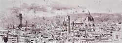 Florence Skylife by Tim Steward -  sized 43x16 inches. Available from Whitewall Galleries